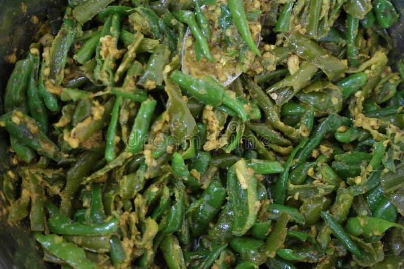 Cocina india Mirchi fotos de archivo libres de regalías