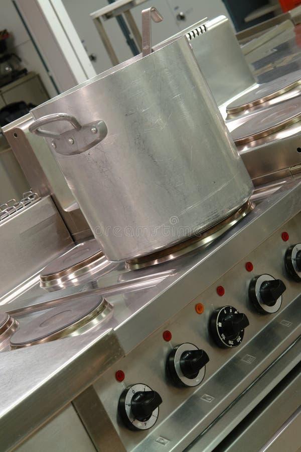 Cocina industrial profesional foto de archivo libre de regalías