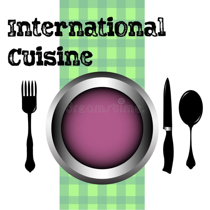 Cocina internacional stock de ilustración