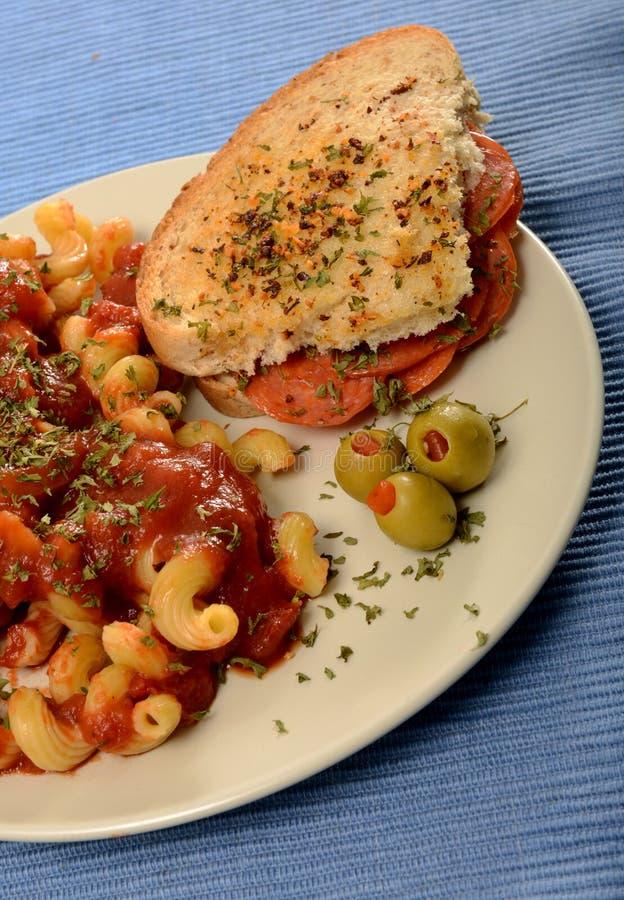 Cocina italiana foto de archivo