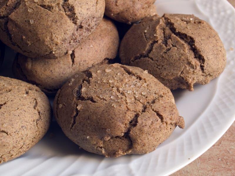 Cocina italiana: galletas hechas en casa foto de archivo