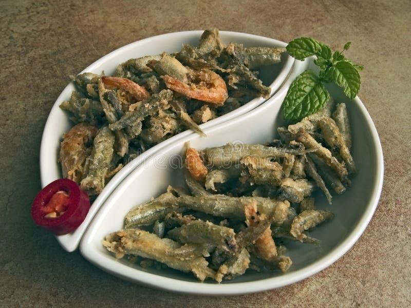 Cocina italiana - pescado frito fotos de archivo libres de regalías