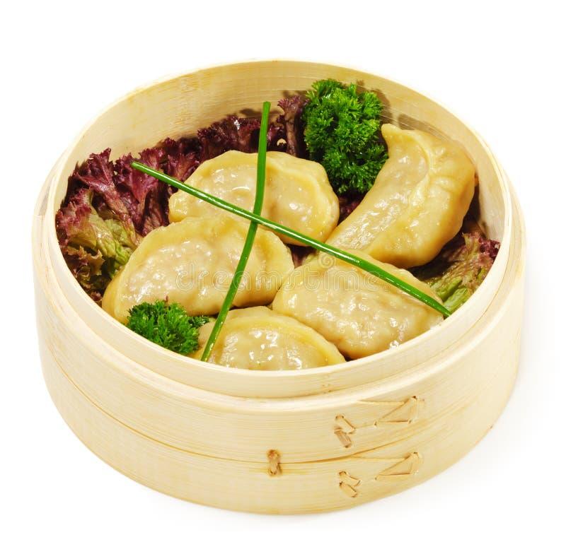 Cocina japonesa - bolas de masa hervida del cerdo fotos de archivo