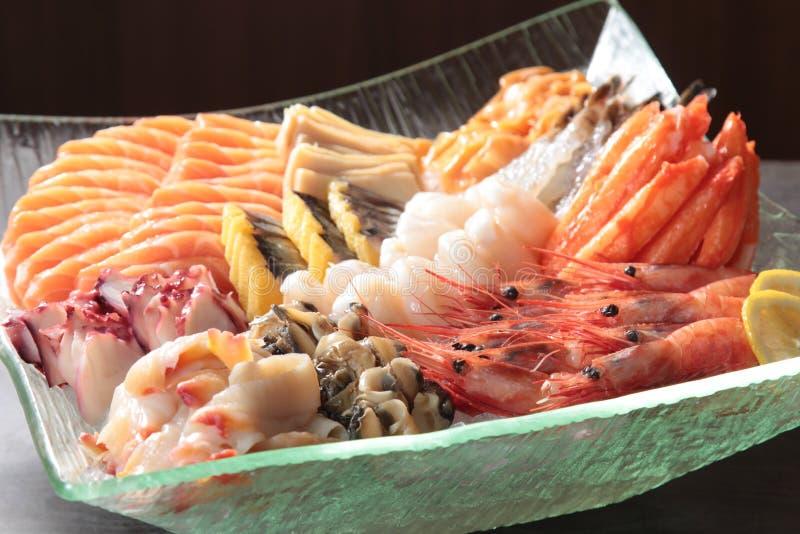 Cocina japonesa del sashimi imagenes de archivo