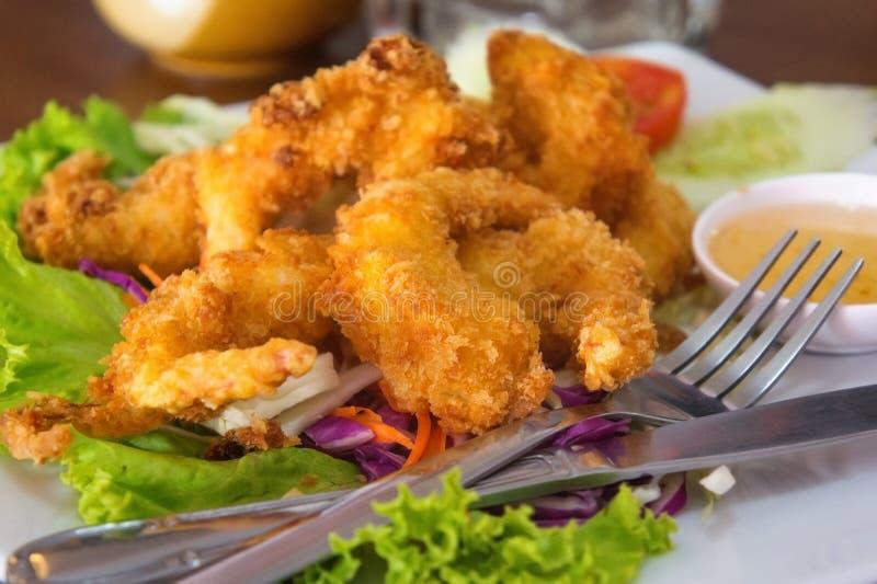 Cocina japonesa Fried Organic Coconut Shrimp imagenes de archivo