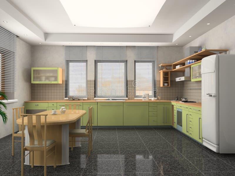 Cocina moderna ilustración del vector