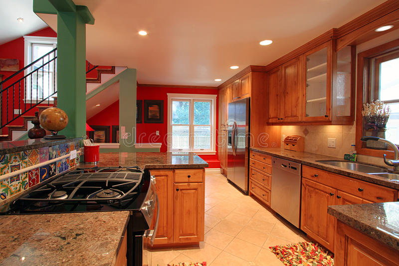 Cocina moderna lujosa foto de archivo imagen de dise ador 15990322 - Disenador de cocinas ...