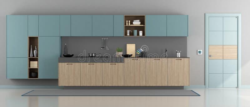 Cocina moderna minimalista ilustración del vector
