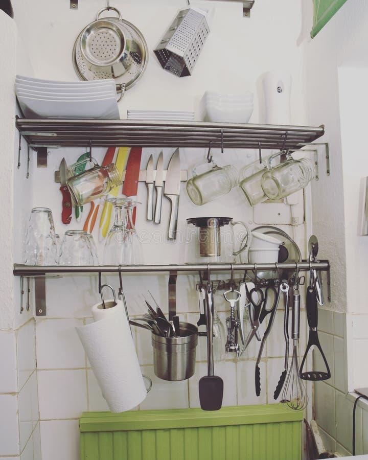 Cocina plana del estudio fotos de archivo