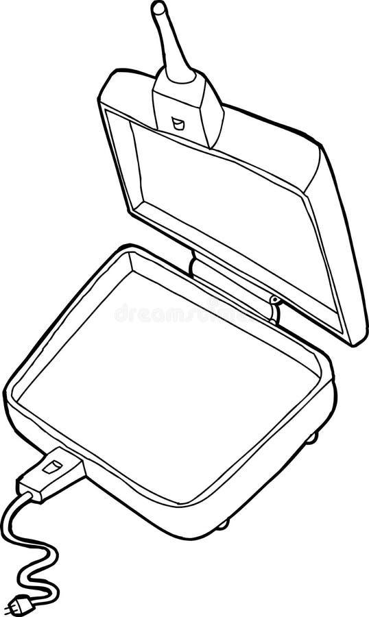 Cocina resumida de la empanada stock de ilustración