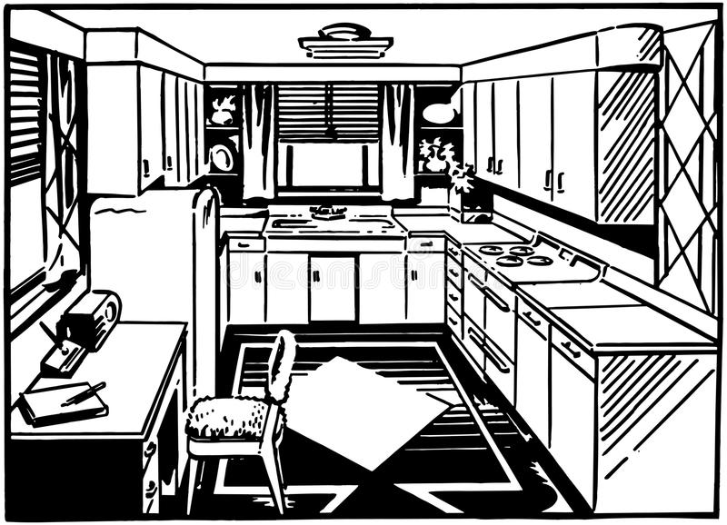 Cocina retra 2 libre illustration