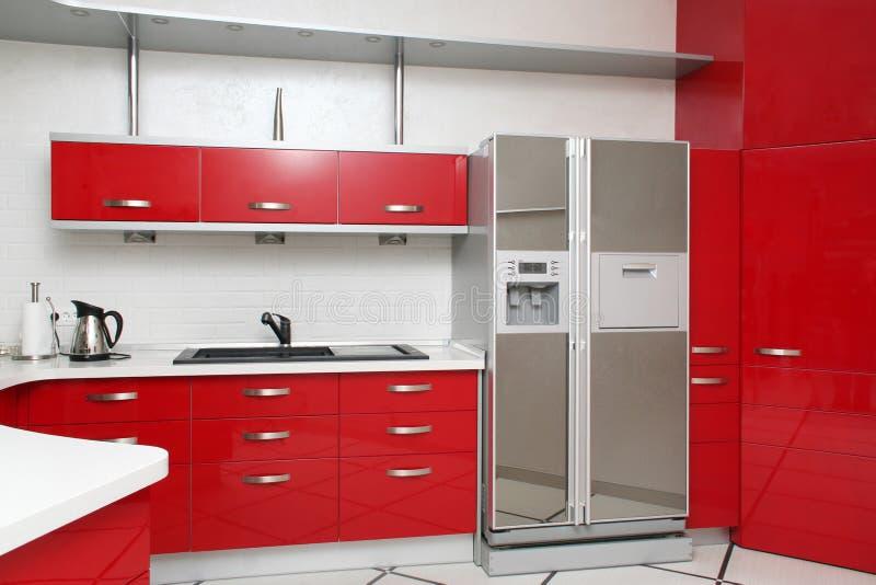 Cocina roja foto de archivo libre de regalías