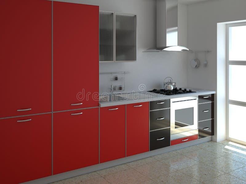 Cocina roja libre illustration