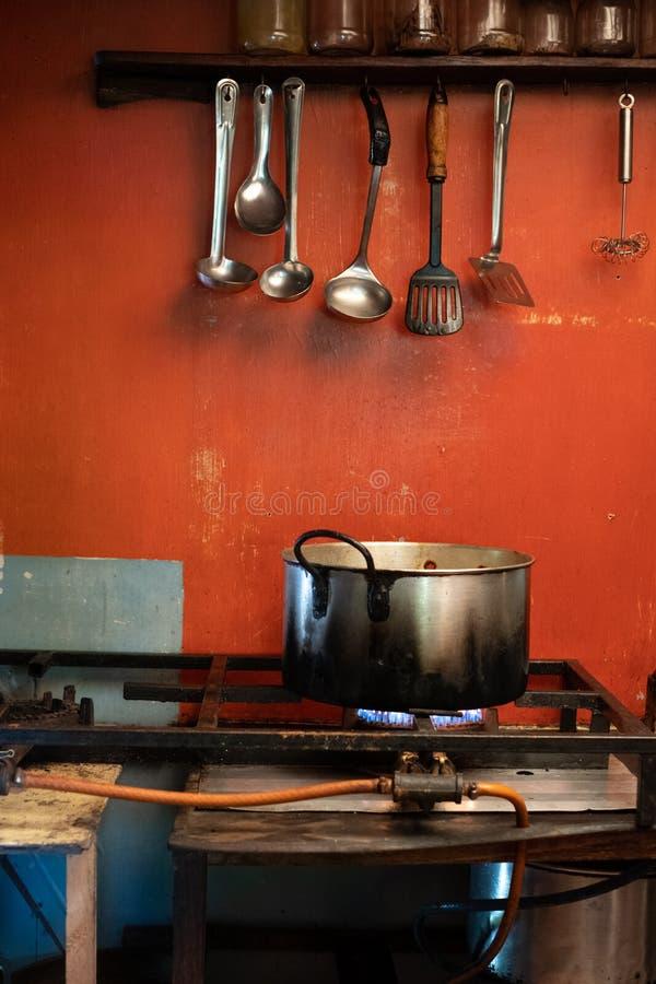 Cocina rural del restaurante en St Johns portuario en la costa salvaje en Transkei, Suráfrica fotografía de archivo libre de regalías