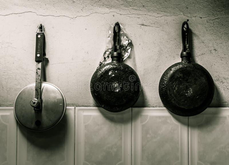 Cocina tríptica foto de archivo libre de regalías