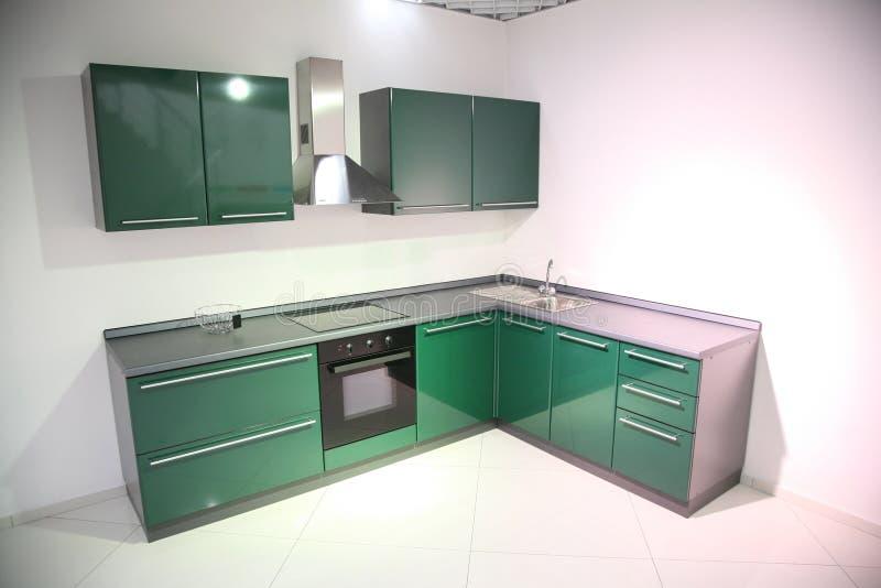 Cocina verde foto de archivo libre de regalías