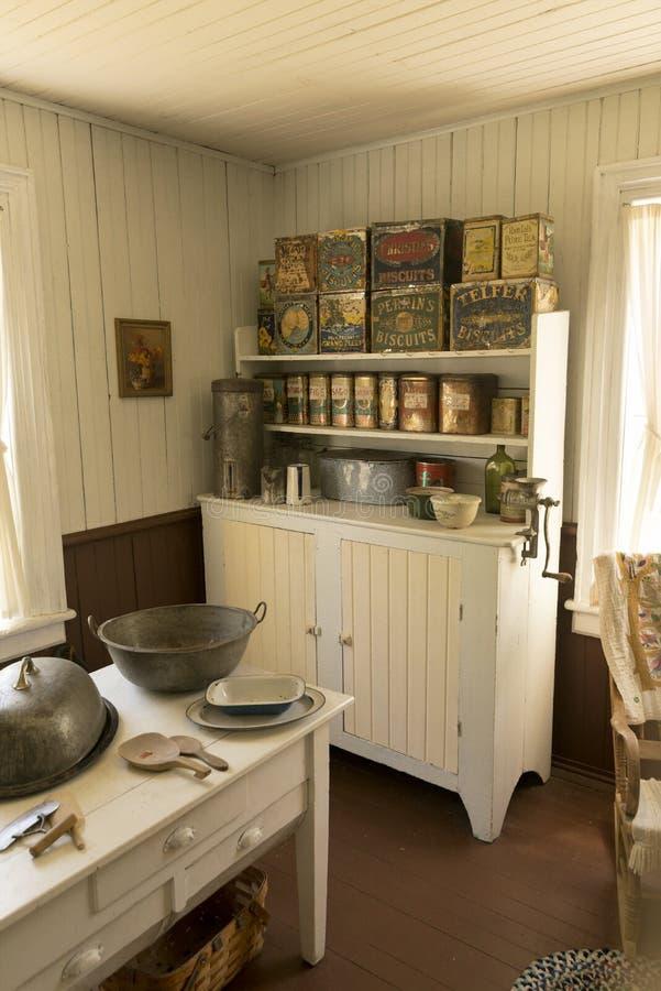 Cocina vieja en el sitio de la misión de Pandosy imagenes de archivo