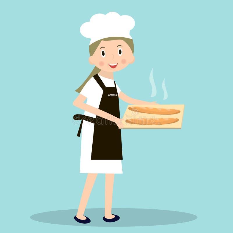 Cocinar al cocinero del molinero del pan Molinero de las profesiones libre illustration