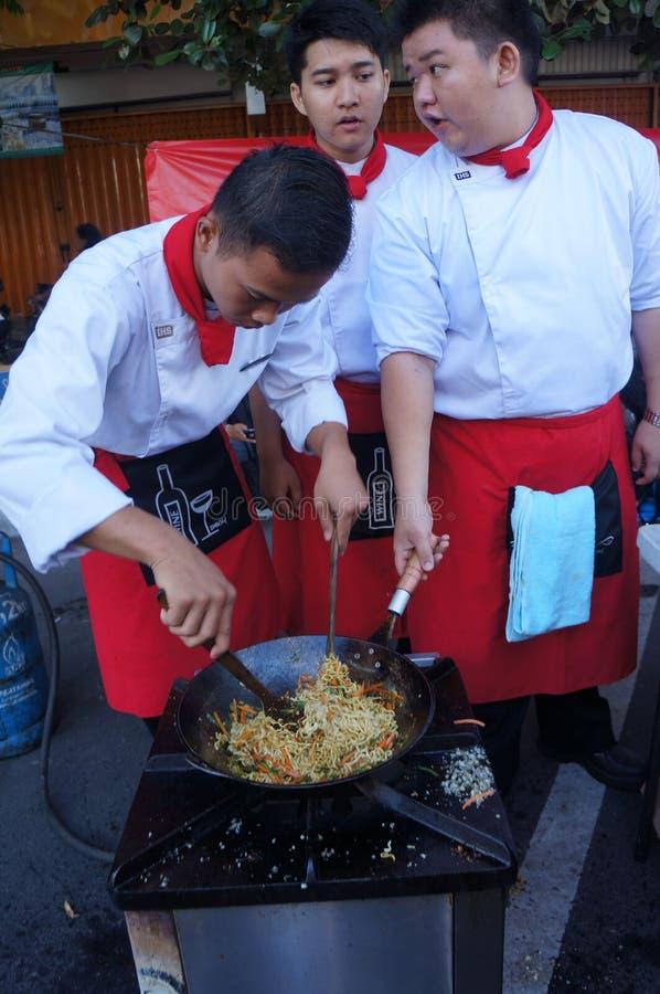 Cocinar competencia fotografía de archivo libre de regalías