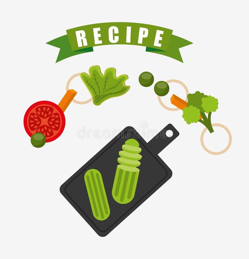 cocinar diseño de la receta ilustración del vector
