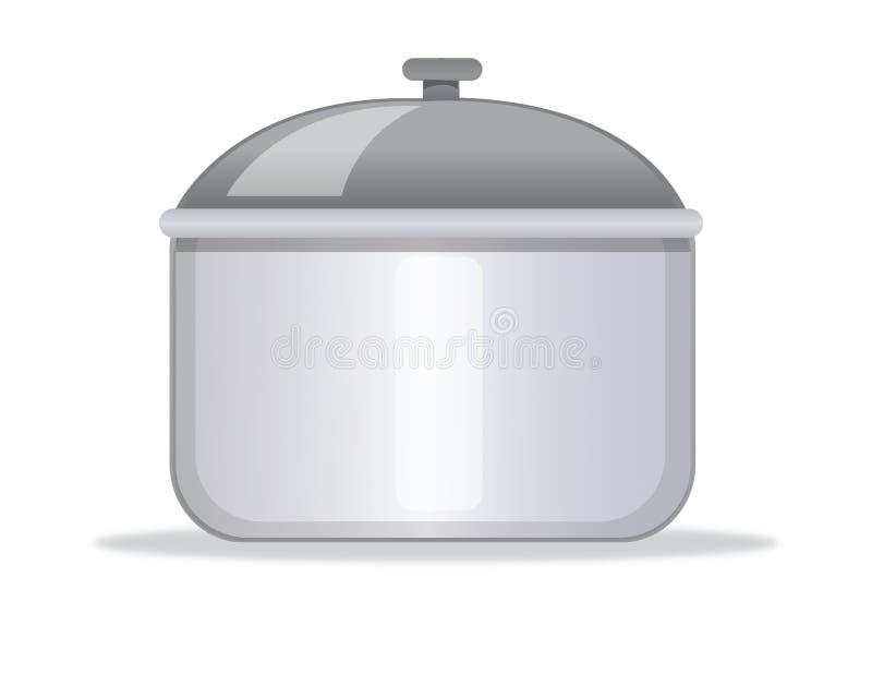 Cocinar el crisol stock de ilustración