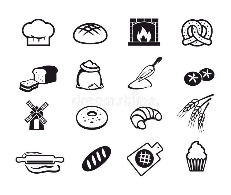 Cocinar iconos ilustración del vector