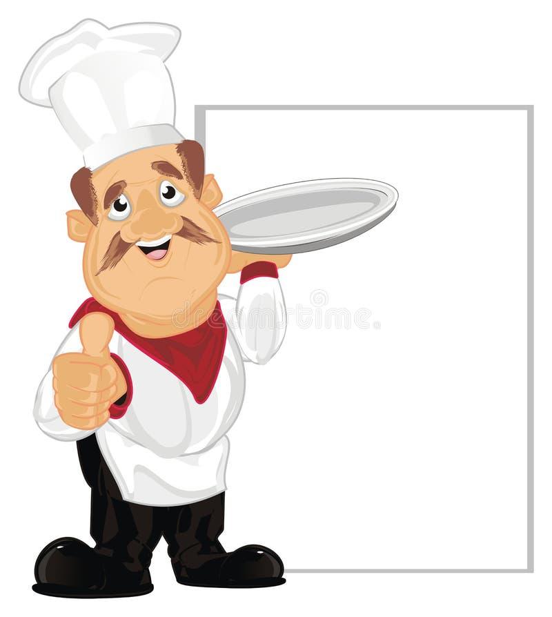 Cocine con dos objetos stock de ilustración