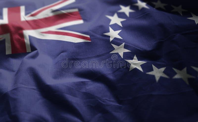 Cocine el cierre de Islands Flag Rumpled para arriba fotografía de archivo libre de regalías