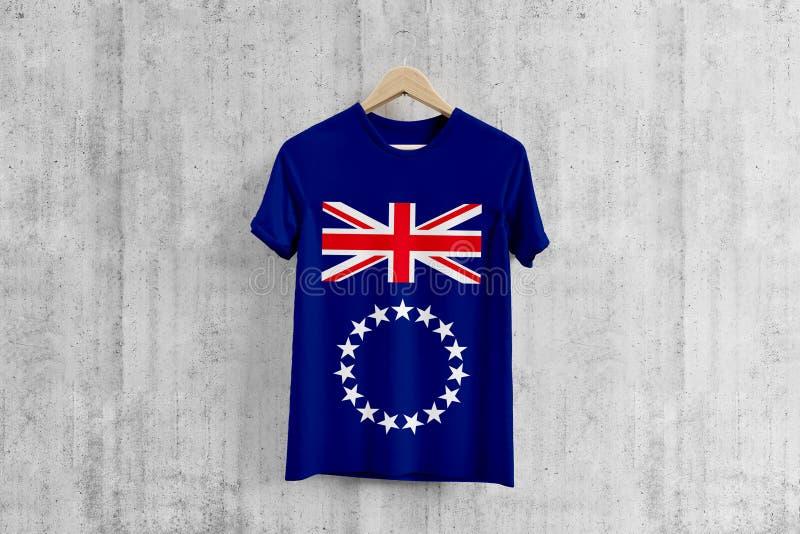 Cocine la camiseta de la bandera de Islands en la suspensión, idea uniforme del diseño del equipo para la producción de la ropa D libre illustration