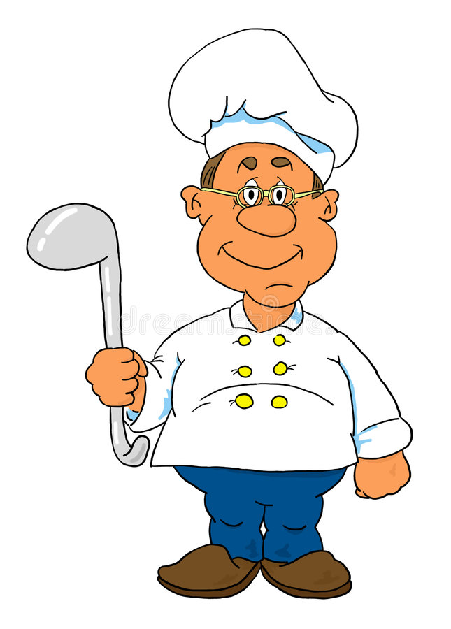 Cocinero stock de ilustración