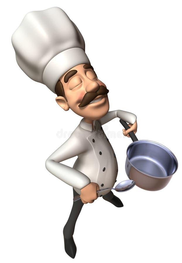 Download Cocinero stock de ilustración. Ilustración de persona - 7282702