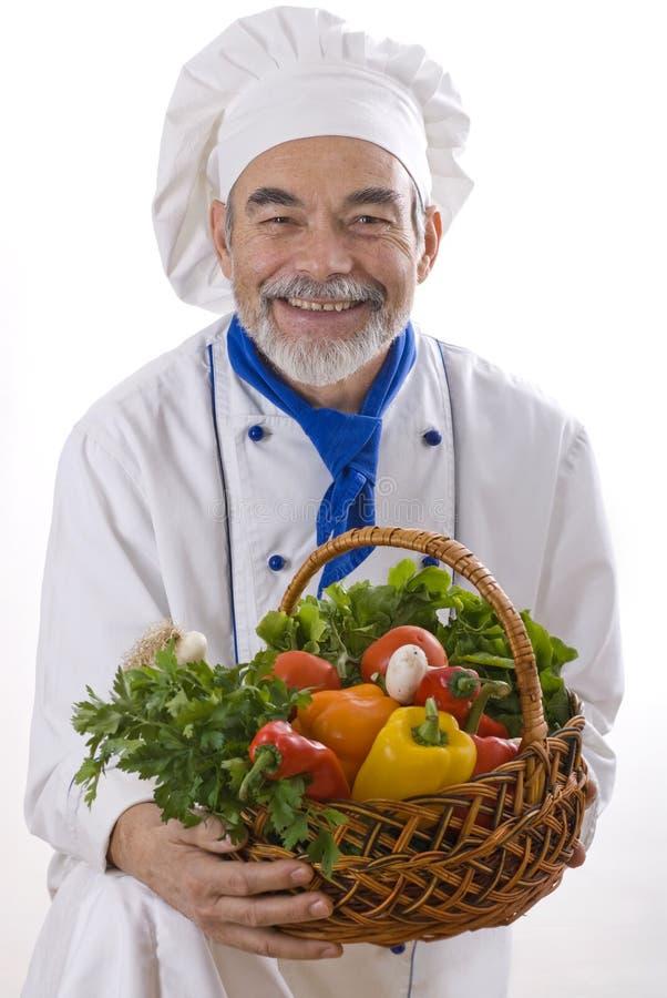Cocinero atractivo feliz imagen de archivo