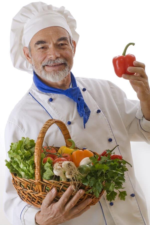 Cocinero atractivo feliz fotos de archivo libres de regalías