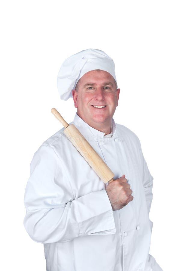 Cocinero con el contacto de balanceo fotografía de archivo