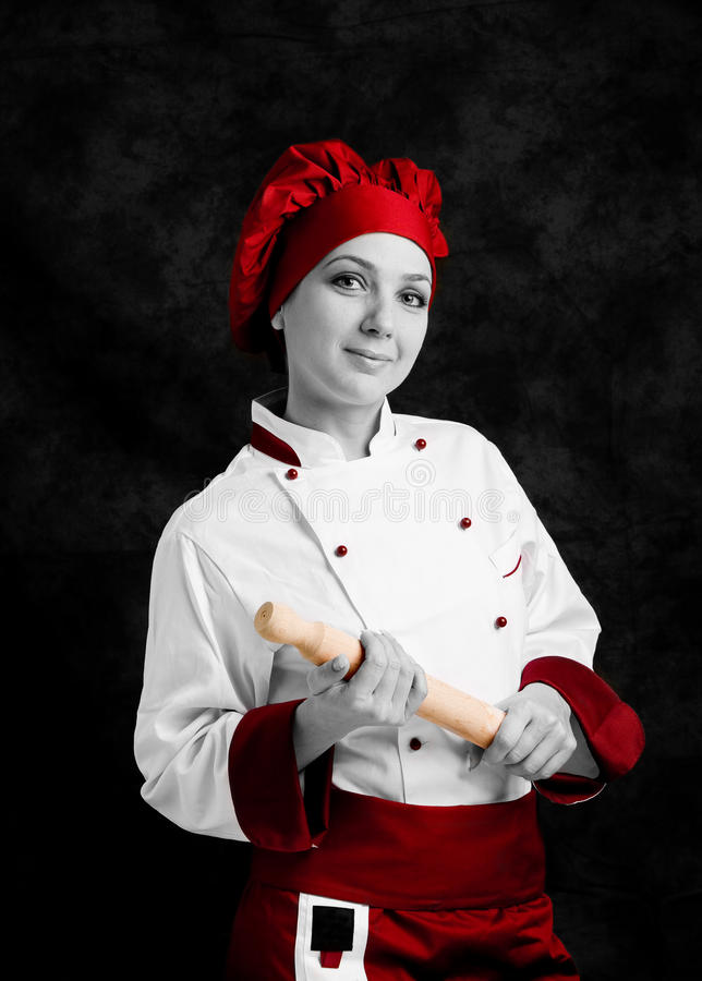 Cocinero con el contacto de balanceo fotografía de archivo libre de regalías