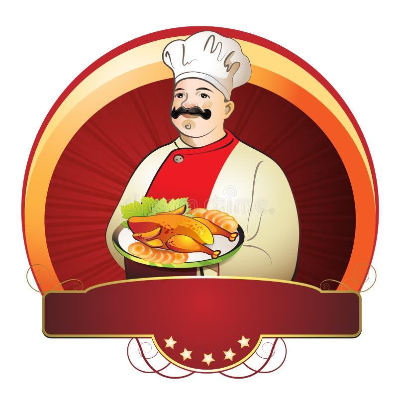 Cocinero con la placa libre illustration