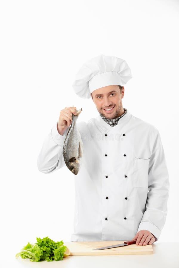 Cocinero contento imagen de archivo