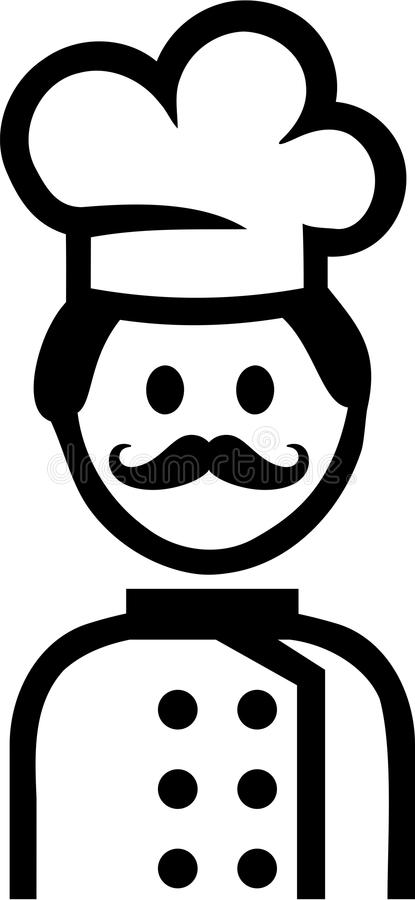 Cocinero Cooking Pictogram stock de ilustración