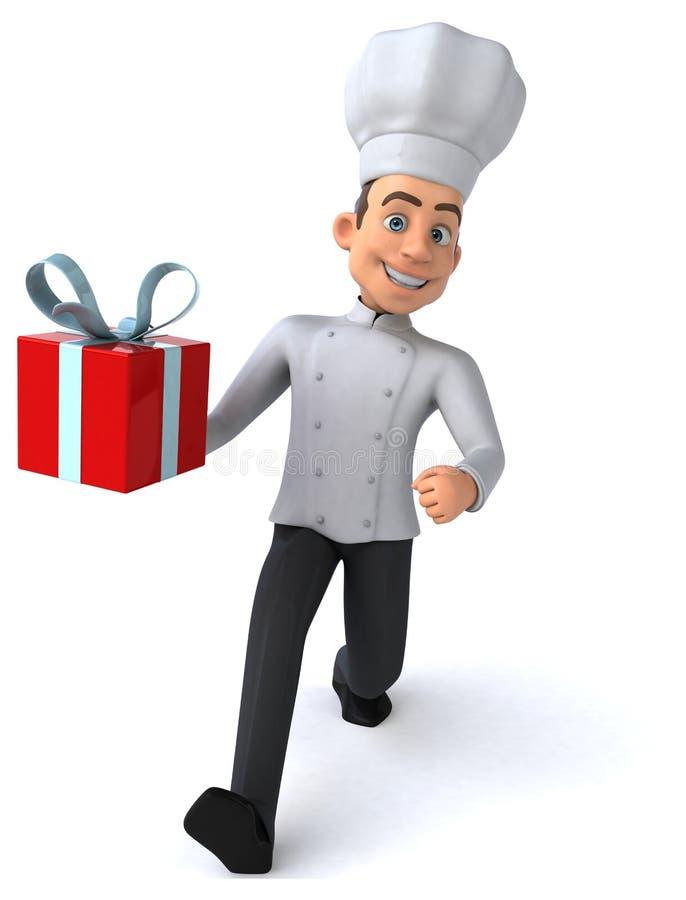 Cocinero de la diversión stock de ilustración
