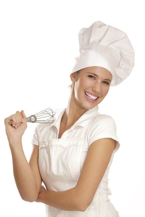 Cocinero de la mujer joven fotografía de archivo