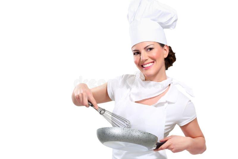 Cocinero de la mujer joven fotos de archivo libres de regalías