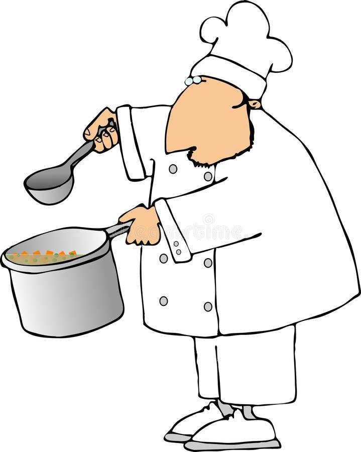 Download Cocinero de la sopa stock de ilustración. Ilustración de caldo - 1277634