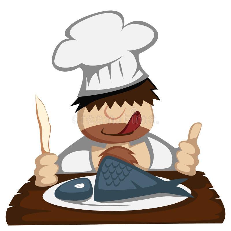 Cocinero de Paleo stock de ilustración