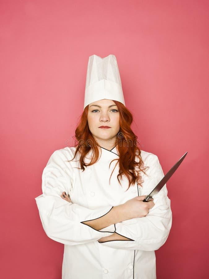 Cocinero de sexo femenino fotografía de archivo