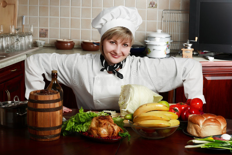 Cocinero de Woam foto de archivo libre de regalías