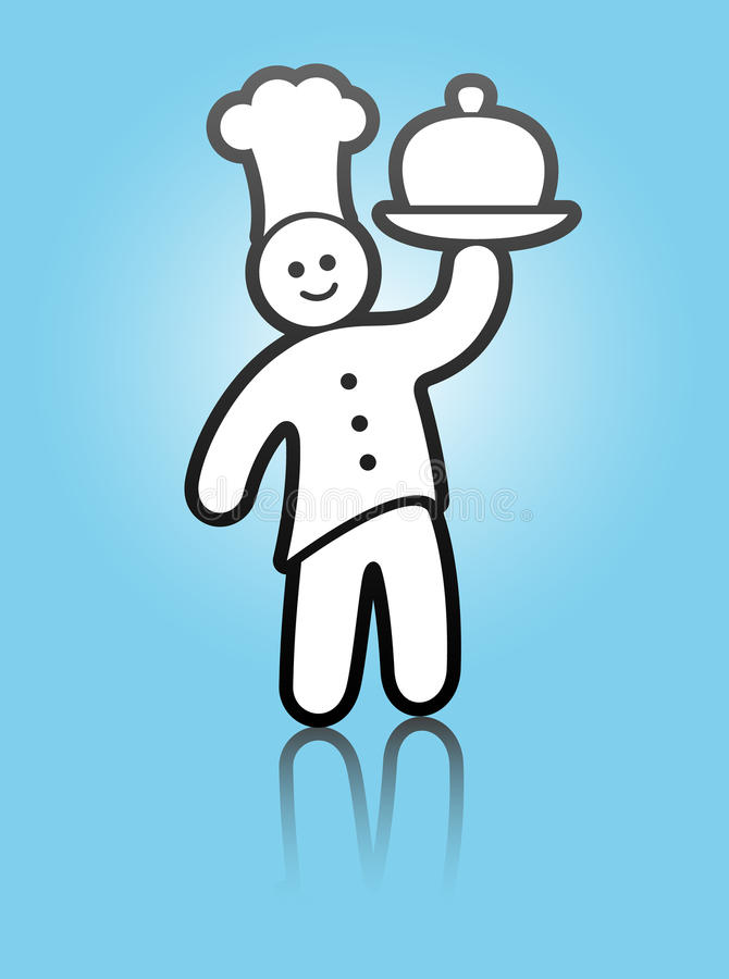Cocinero del alimento stock de ilustración