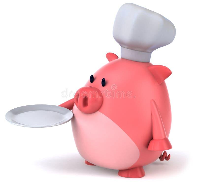Cocinero del cerdo stock de ilustración