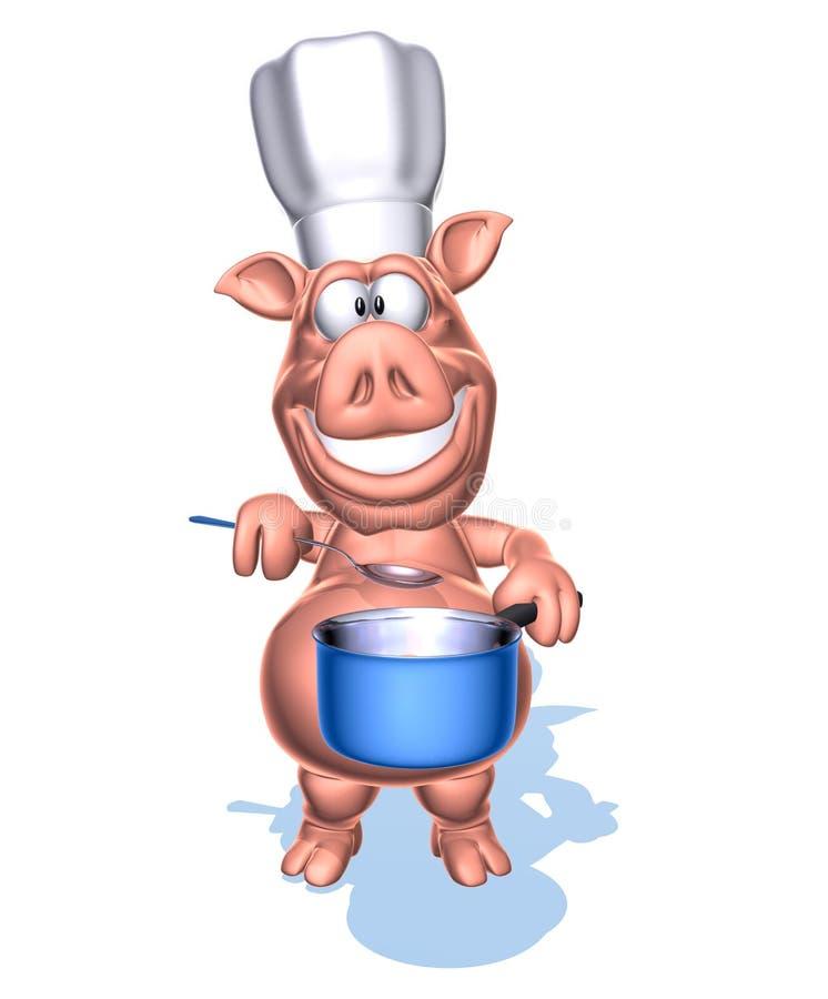Cocinero del cerdo libre illustration