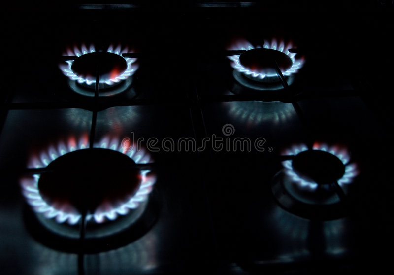 Cocinero del gas imagen de archivo libre de regalías