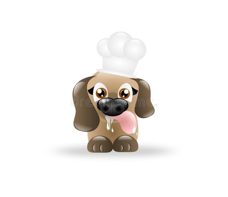 Cocinero del perro libre illustration